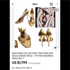 Tom Ford Gucci Purple Serpent head Python Heels